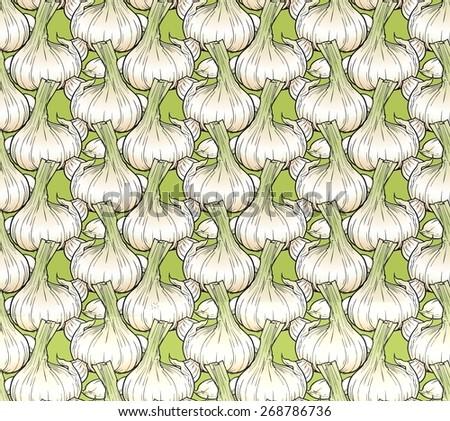 tasty kitchen pattern - stock photo