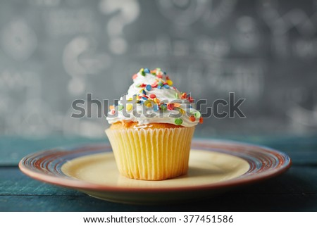 Tasty muffin - stock photo