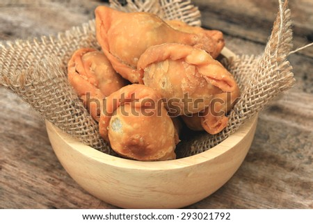 Tasty of curry puff - stock photo