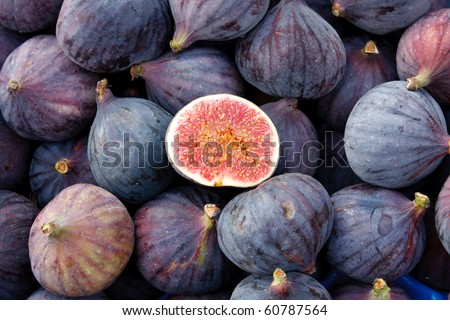 Tasty organic figs at local market - stock photo