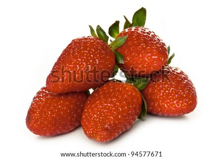 Tasty ripe strawberry on a white background