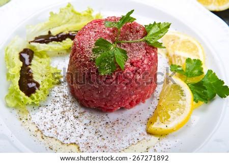 tasty Steak tartare   - stock photo