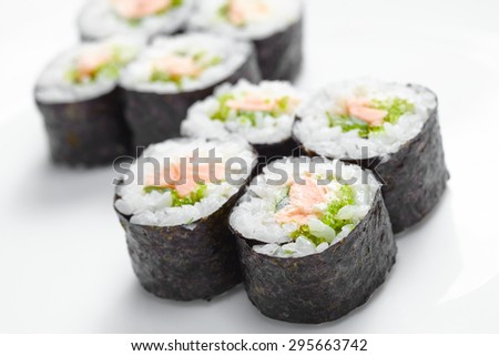 tasty sushi - stock photo