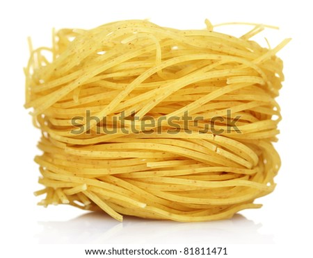 tasty vermicelli isolated on white - stock photo