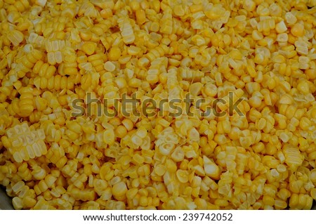 Tasty yellow grains of corn. Whole background.