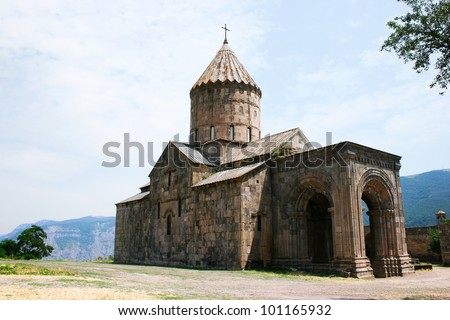 Tatev monastery in Armenia, the 9th century architecture.