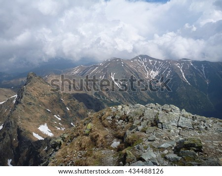 Tatry mountains in Slovakia in the spring time - stock photo