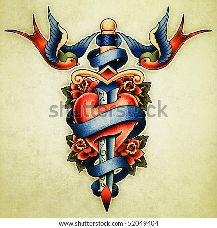 Tattoo Illustration - stock photo