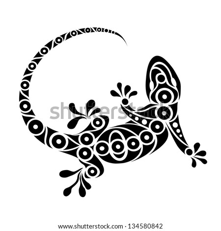 gecko tattoo stock images royalty free images vectors shutterstock. Black Bedroom Furniture Sets. Home Design Ideas