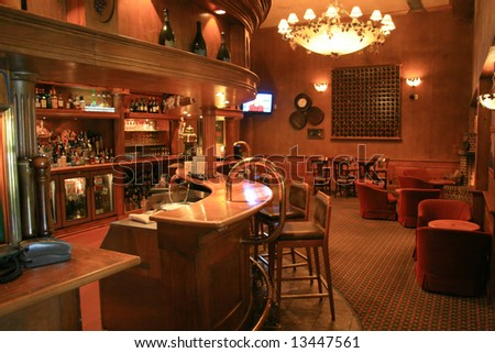 Tavern associated with a hotel - stock photo