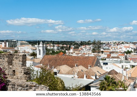 Tavira in Portugal, view from the castle walls