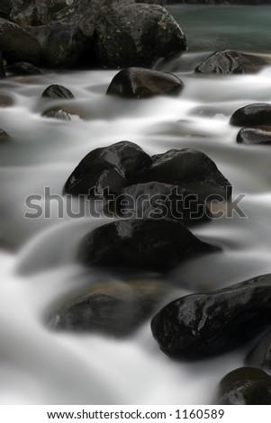 Tawhai rapids - stock photo