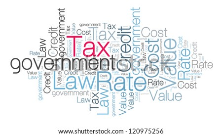 Tax concept in word cloud - stock photo