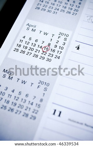 tax due date - stock photo
