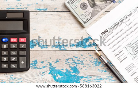 Inscription tax time 2017 on sticker stock photo 562337167 for 1040 tax table calculator