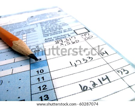 Tax Forms 1040 - stock photo