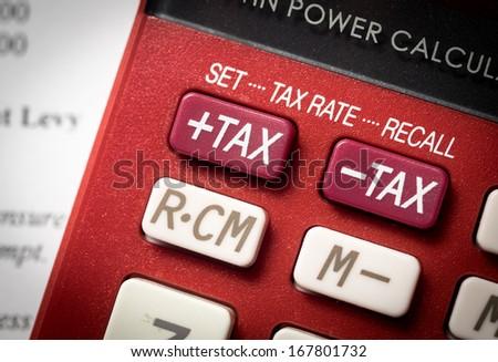 Tax increase - stock photo