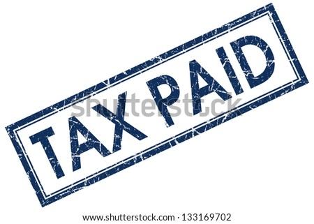 tax paid stamp