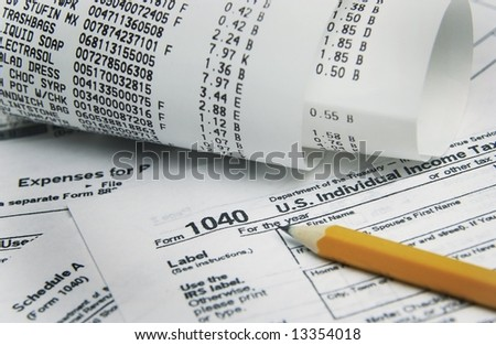 Tax Paperwork - stock photo