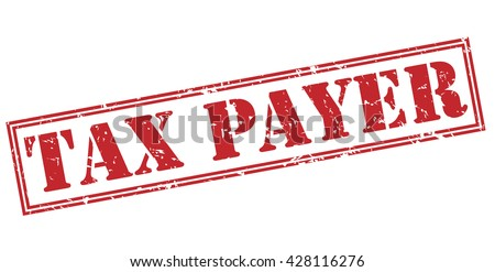 tax payer stamp - stock photo