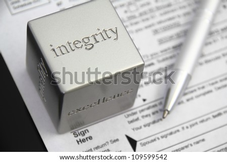 Tax preparation integrity concept. - stock photo