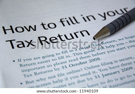 Tax Return. - stock photo