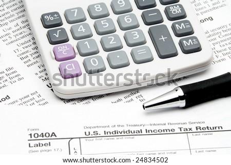 Tax Return - stock photo