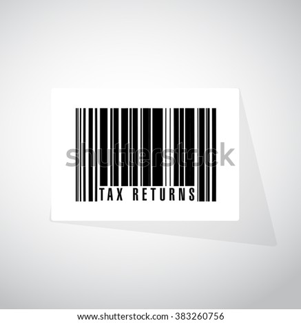 tax returns barcode sign concept illustration design graphic