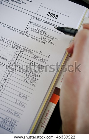 tax season filing - stock photo