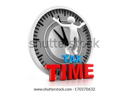 Tax time  - stock photo