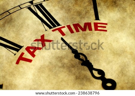 Tax time - stock photo