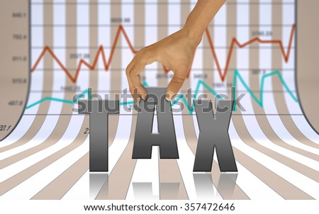 Taxation and Finance as background concept  - stock photo