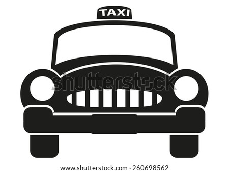 Taxi cab icon - stock photo