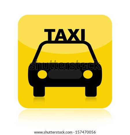 Taxi icon - stock photo