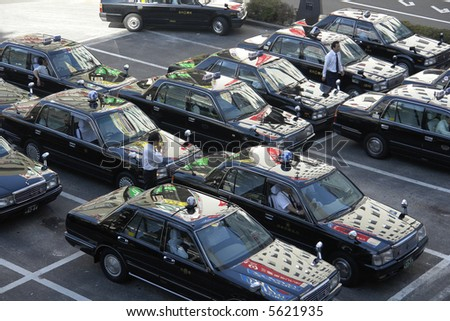 Taxi lines. - stock photo