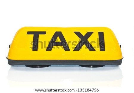 Taxi sign. - stock photo