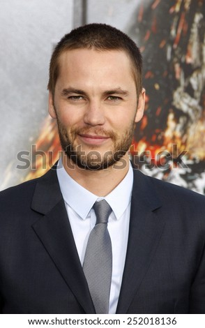 "Taylor Kitsch at the Los Angeles premiere of ""Battleship"" held at the Nokia Theatre L.A. Live in Los Angeles, California, United States on May 10, 2012.  - stock photo"