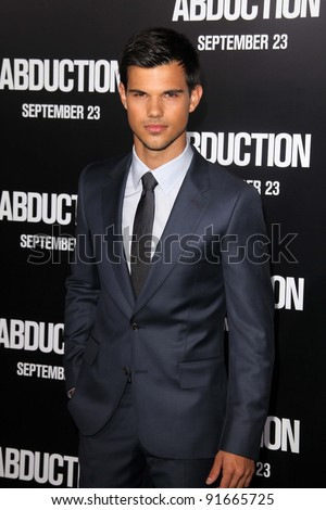 "Taylor Lautner at the ""Abduction"" World Premiere, Chinese Theater, Hollywood, CA. 09-15-11 - stock photo"