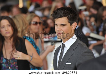 "Taylor Lautner at the premiere of his new movie ""The Twilight Saga: Eclipse"" at the Nokia Theatre at L.A. Live. June 24, 2010  Los Angeles, CA Picture: Paul Smith / Featureflash"