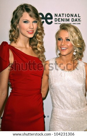 "Taylor Swift and Julianne Hough at the EIF's Women's Cancer Research Fund's ""An Unforgettable Evening"" Benefit, Beverly Wilshire Four Seasons Hotel, Beverly Hills, CA. 01-27-10 - stock photo"