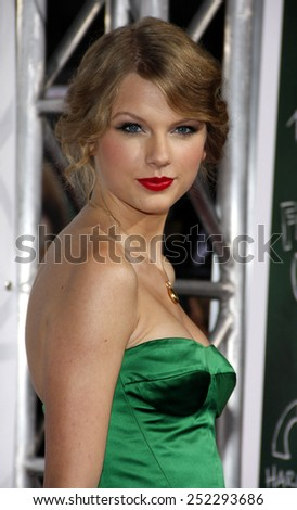 """Taylor Swift at the Los Angeles Premiere of """"Easy A"""" held at the Grauman's Chinese Theater in Hollywood, California, United States on September 13, 2010.  - stock photo"""