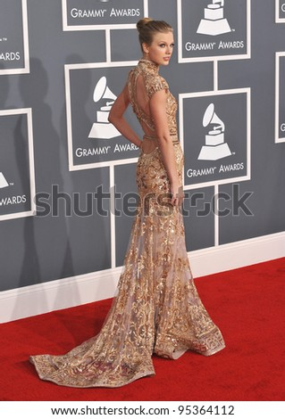 Taylor Swift at the 54th Annual Grammy Awards at the Staples Centre, Los Angeles. February 12, 2012  Los Angeles, CA Picture: Paul Smith / Featureflash