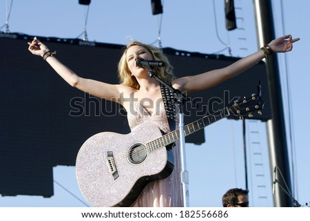 Taylor Swift on stage for SAT- Stagecoach Country Music Festival Concerts, Empire Polo Field, Indio, CA, May 03, 2008 - stock photo