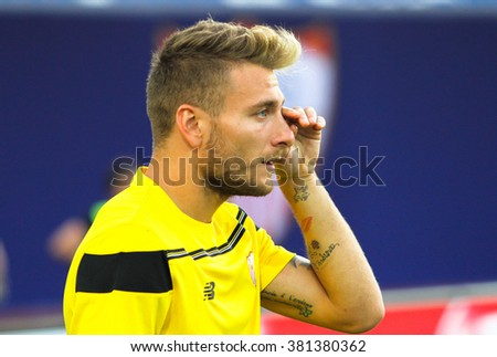Tbilisi, Georgia - August 11: Ciro Immobile of FC Sevilla during match UEFA Super Cup at the Boris Paichadze Dinamo Arena on August 11, 2015 in Tbilisi, Georgia.