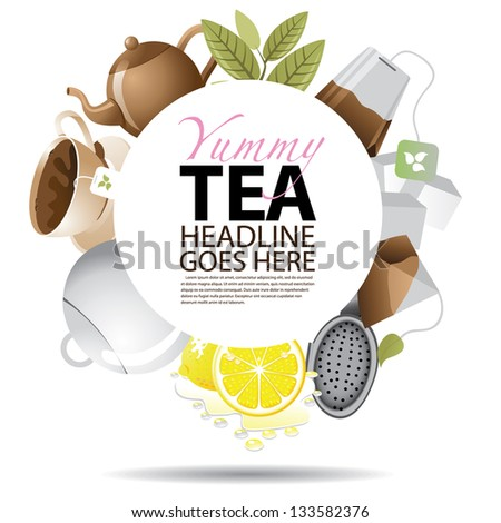 Tea Background with Copy Space. JPG - stock photo