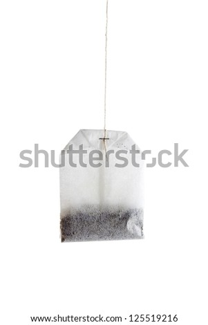Tea bag in a white background - stock photo