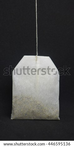tea bag on the gray background