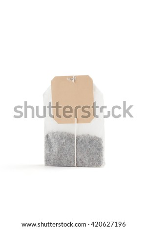 tea bag on white background - stock photo
