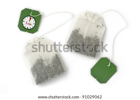 Tea Bags for Brewing a Healthy and Relaxing Drink - stock photo