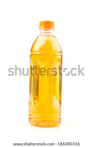 Tea bottle isolated white background - stock photo